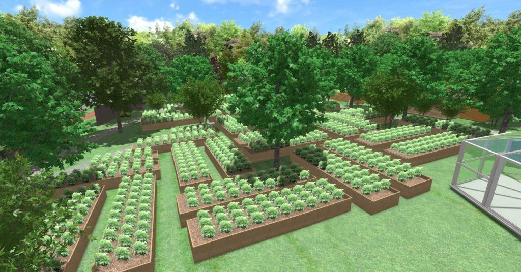 straturi de legume în model mozaic- grădina Teremok
