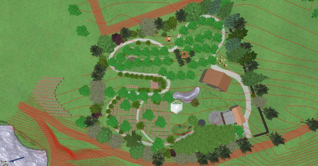 plan de sus -grădina Teremok, tipare și modele